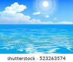 sea landscape vector... | Shutterstock .eps vector #523263574
