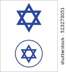 star of david symbol set | Shutterstock . vector #523273051