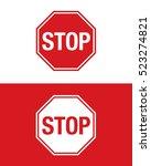 vector stop sign set   Shutterstock .eps vector #523274821