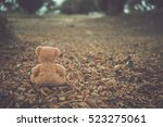 alone bear doll very sad alone... | Shutterstock . vector #523275061