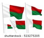 madagascar vector flags set. 5... | Shutterstock .eps vector #523275205