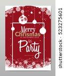 merry christmas invitation card ...   Shutterstock .eps vector #523275601
