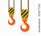 vector hooks. two big... | Shutterstock .eps vector #523277131