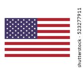 united states flag icon flat | Shutterstock .eps vector #523277911