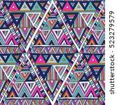 multicolor vector seamless...   Shutterstock .eps vector #523279579