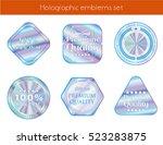 holographic set geometric... | Shutterstock .eps vector #523283875