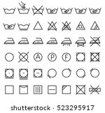 garment care symbols set. the... | Shutterstock .eps vector #523295917