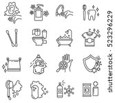 Hygiene Icons Set. Compliance...