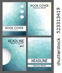 book cover design. set of four... | Shutterstock .eps vector #523313419