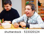 happy kids with disability... | Shutterstock . vector #523320124