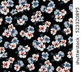 seamless floral pattern in... | Shutterstock .eps vector #523320895