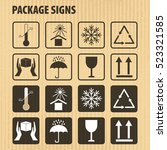 vector packaging symbols on... | Shutterstock .eps vector #523321585