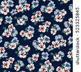 seamless floral pattern in... | Shutterstock .eps vector #523325845
