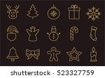 collection of christmas elements | Shutterstock .eps vector #523327759