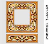 square ornament colorfull.... | Shutterstock .eps vector #523329325