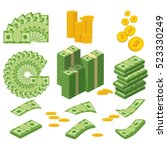 set a various kind of money.... | Shutterstock .eps vector #523330249