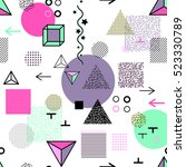 trendy geometric elements... | Shutterstock .eps vector #523330789