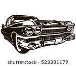 retro muscle car vector... | Shutterstock .eps vector #523331179