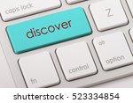 discover word written on... | Shutterstock . vector #523334854