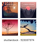 a set of landscape backgrounds  ... | Shutterstock .eps vector #523337374