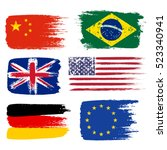 collection of popular world... | Shutterstock .eps vector #523340941