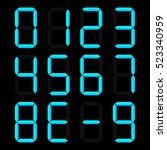 calculator digital numbers ...   Shutterstock .eps vector #523340959