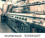 professional kitchen interior ... | Shutterstock . vector #523341637