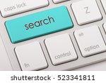 search word written on computer ... | Shutterstock . vector #523341811