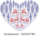 the embroidered picture for new ... | Shutterstock .eps vector #523347784