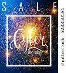 cyber monday sale label.... | Shutterstock .eps vector #523350595