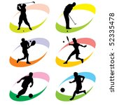 set of vector silhouette icons... | Shutterstock .eps vector #52335478