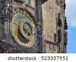 astronomical clock in prague | Shutterstock . vector #523357951