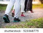 group of people wear sport... | Shutterstock . vector #523368775