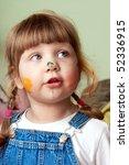 girl painting | Shutterstock . vector #52336915