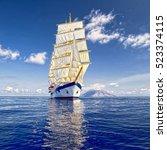 yachting. sailing. beautiful... | Shutterstock . vector #523374115