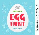 Egg Hunt. Happy Easter. Spring...