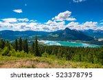 Small photo of Scenic Mountain Hiking views of Barrier Lake Kananaskis Country Alberta Canada