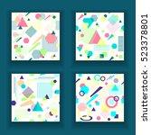 set  abstract seamless pattern... | Shutterstock .eps vector #523378801
