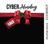 cyber monday background design. ... | Shutterstock .eps vector #523380829