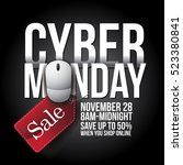cyber monday background design. ... | Shutterstock .eps vector #523380841