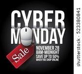 cyber monday background design. ... | Shutterstock .eps vector #523380841