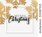 christmas background with... | Shutterstock .eps vector #523387315