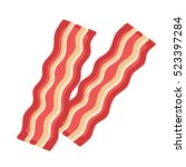 Bacon Isolated On White...