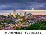 albany  new york  usa skyline. | Shutterstock . vector #523401661