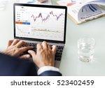 forex trade graph chart  | Shutterstock . vector #523402459