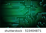 green circuit board vector... | Shutterstock .eps vector #523404871