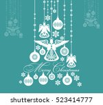 christmas festive abstract... | Shutterstock .eps vector #523414777