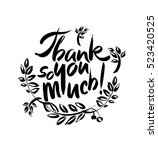 thank you so much handwritten... | Shutterstock .eps vector #523420525
