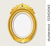 classic ellipse gold picture... | Shutterstock .eps vector #523424365