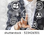 digital email marketing ... | Shutterstock . vector #523426501